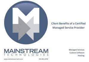 client benefits of a certified managed service provider