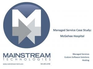 Managed Service - mcgehee hospital