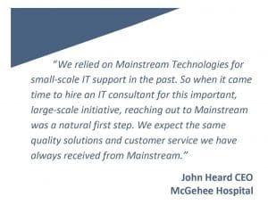 mcgehee hospital managed service
