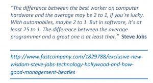 steve jobs quote One Good Developer